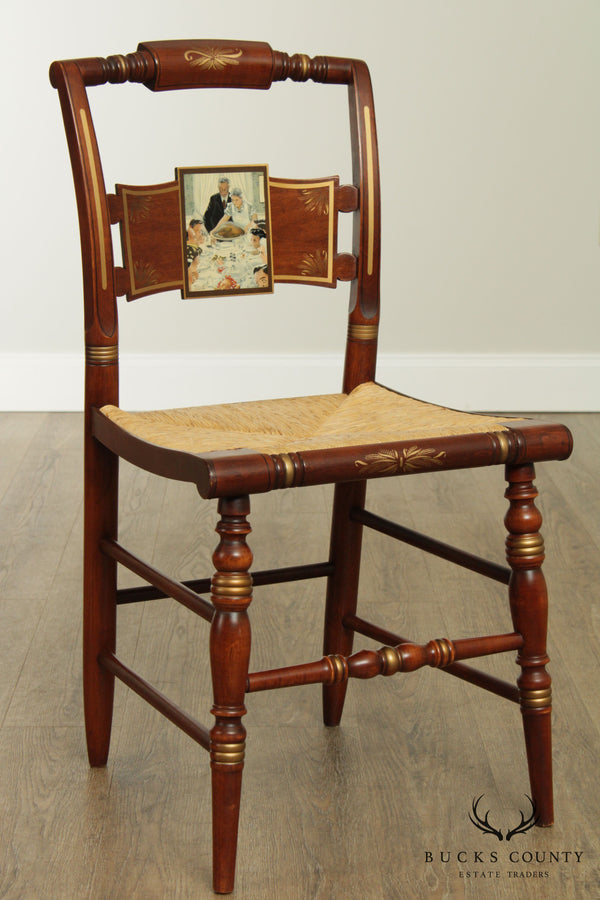 "Hitchcock Norman Rockwell ""Freedom From Want"" Limited Edition Side Chair"