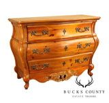 Rococo Style Pine Bombe Commode Chest of Drawers
