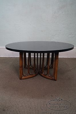 Vintage Round Rattan Bamboo Coffee Table