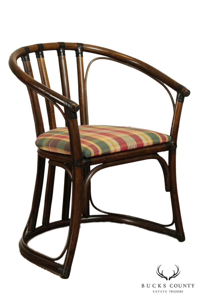 Ficks Reed Vintage Curved Back Rattan Armchair