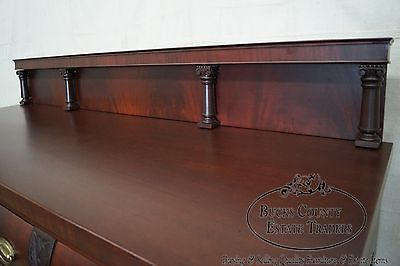 Antique Flame Mahogany Empire Style Claw Foot Sideboard