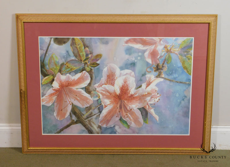 Mary Booth Cabot Azaleas Fine Art Lithograph of Original Watercolor