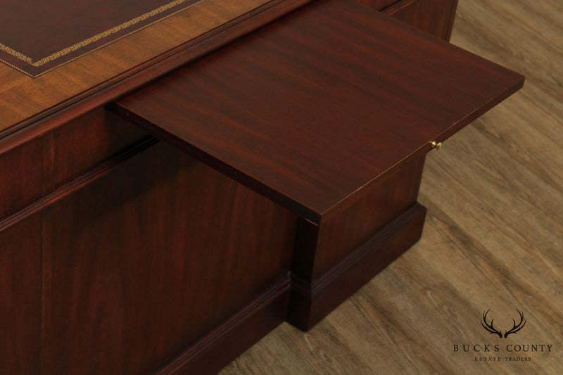 Henkel Moore (Henkel Harris) Mahogany Leather Top Executive Desk