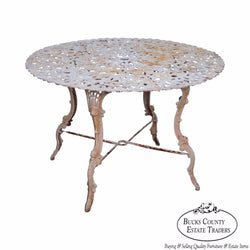 Antique 19th Century Cast Iron Garden Table