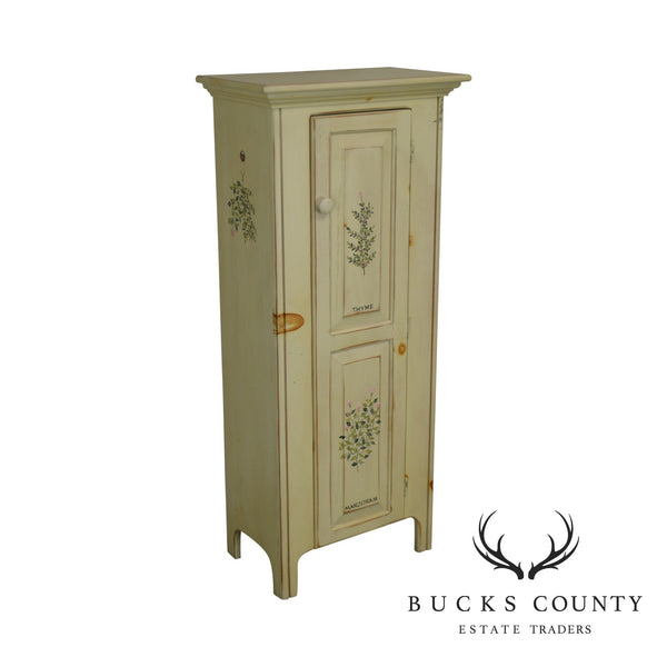 American Heritage Thyme and Marjoram Painted Single Door Jelly Cupboard