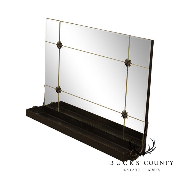 Quality Iron Mirror Back Hanging Wall Shelf