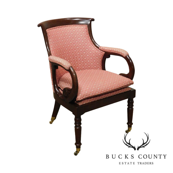 Hancock & Moore English Regency Style Mahogany Armchair