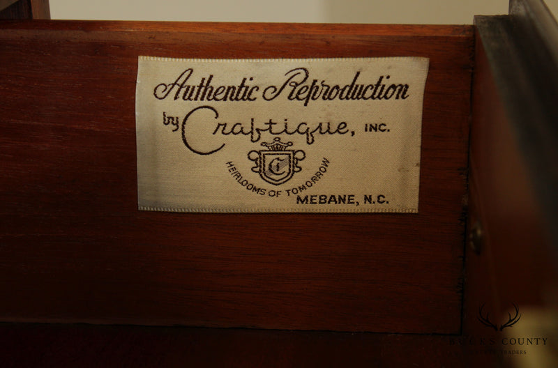 Craftique Chippendale Style Mahogany Lingerie Chest