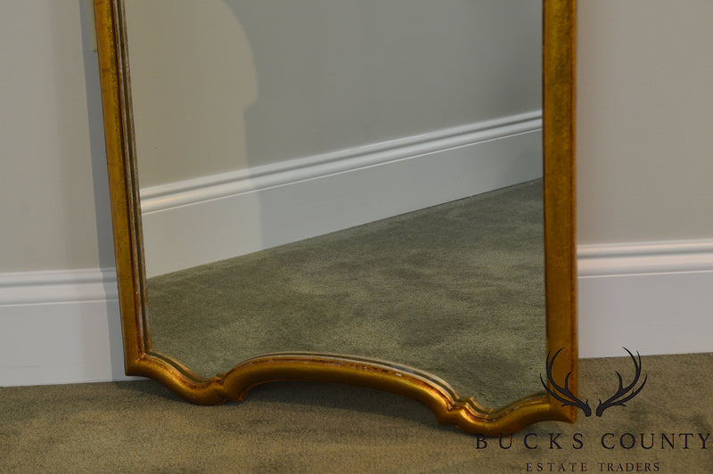 Hollywood Regency Vintage Pair of Gold Gilt Frame Wall Mirrors