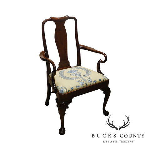 Stickley Colonial Williamsburg Mahogany Queen Anne Side Chair