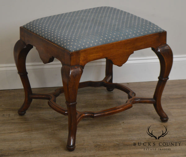 Georgian Style Custom Quality Stool or Ottoman