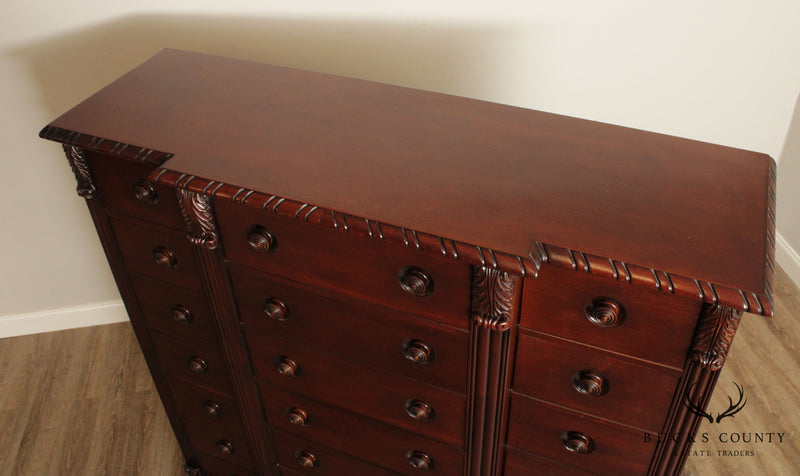 Polo Ralph Lauren Large Mahogany 21 Drawer Tall Chest