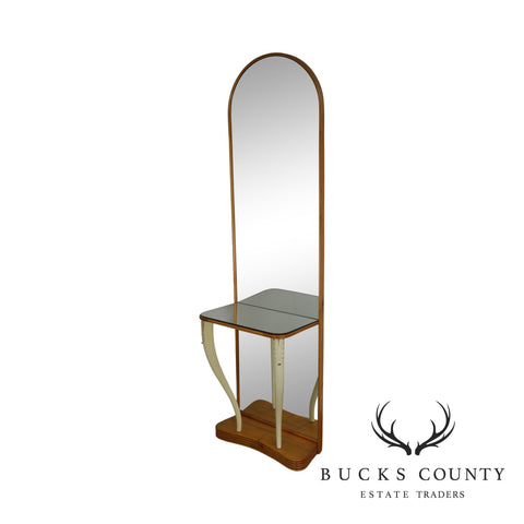 French Art Deco Style Hall Mirror Console Table