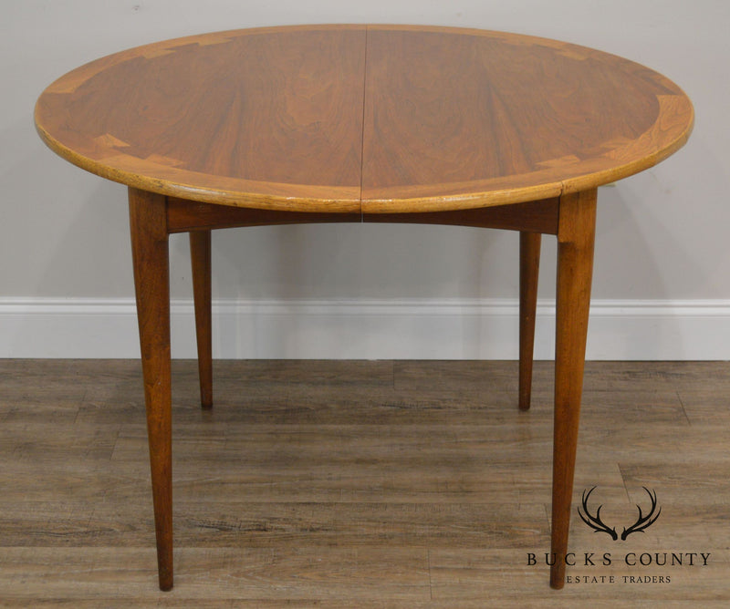 Lane Acclaim Mid Century Modern Walnut 42 Round Dovetailed Dining Tab Bucks County Estate Traders
