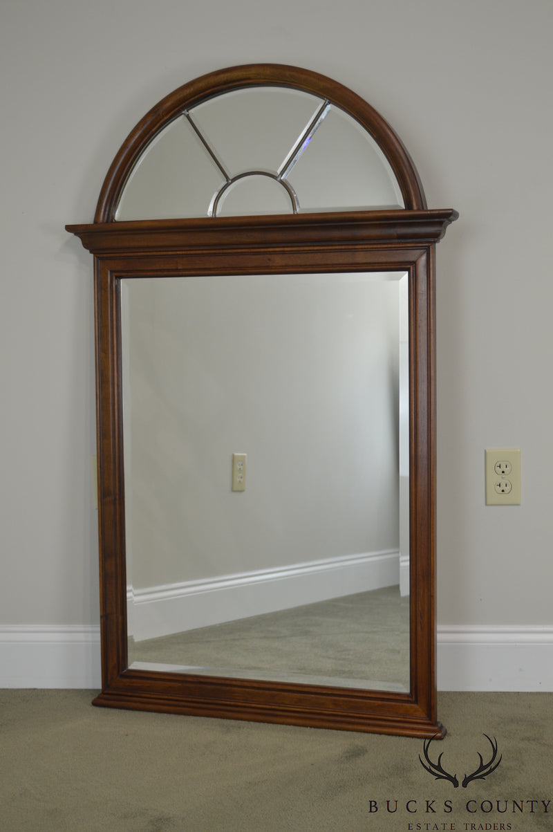 Lexington Cherry Arch Top Beveled Mirror