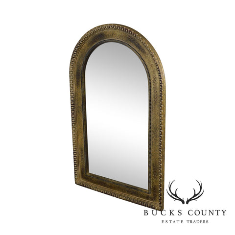 French Empire Style Gold Arched Top Mirror