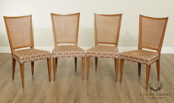 Mid Century Modern Set 4 Cane Back Dining Chairs