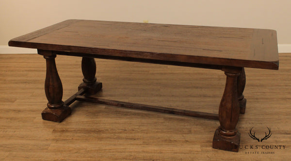Rustic Tudor Style Trestle Dining Table