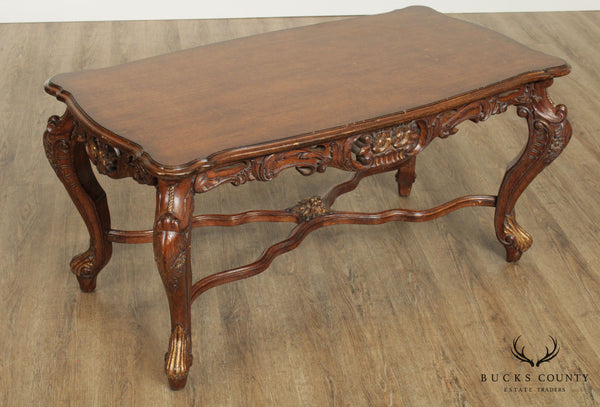 Italian Rococo Style Quality Carved Coffee Table
