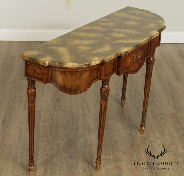 Maitland Smith French Louis XVI Style Mahogany Console Table (B)
