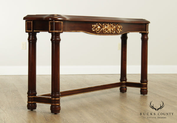"Empire Style 64"" Gilt Accent Console Table"