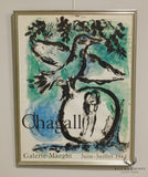 "Mare Chagall ""The Green Bird"" 1962 Exhibition Lithograph"