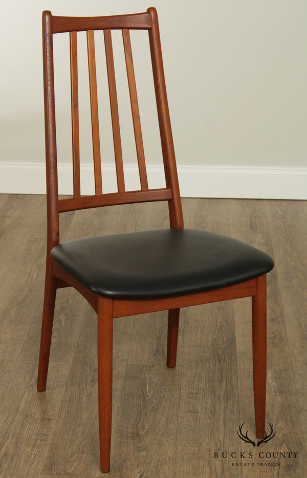 Danish Modern Teak Mid Century Side Chair