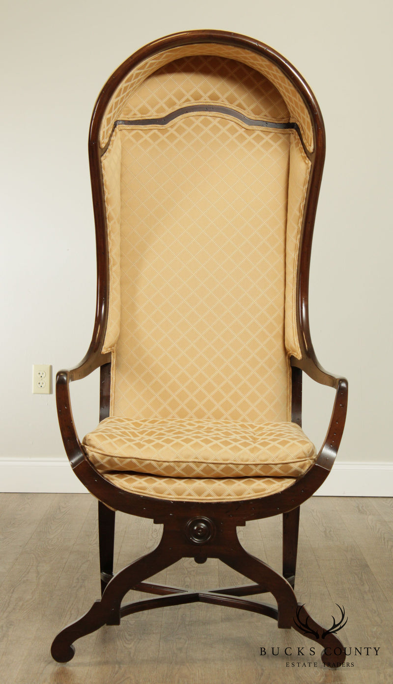French Country Style Custom Quality Hooded Porters Chair