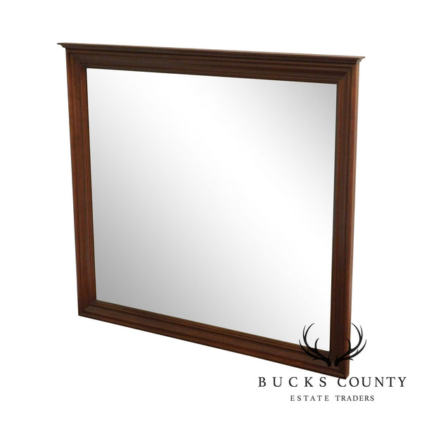 Traditional Cherry Wood Frame Beveled Mirror