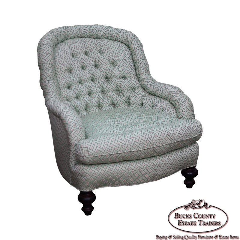Stoneleigh Quality Tufted Regency Style Lounge Chair