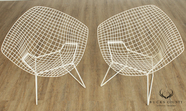 Harry Bertoia for Knoll Mid Century Modern Pair Diamond Chairs