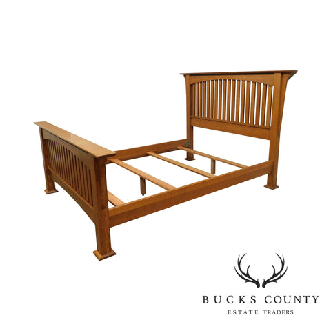 Bunker Hill Amish Oak Handcrafted Mission Style Queen Bed