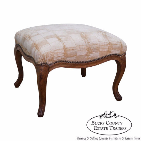 Antique Early 19th Century French Louis XV Style Walnut Ottoman