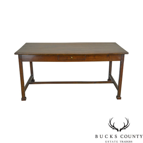 Antique Oak One Drawer Writing Table Desk
