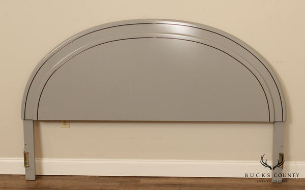 Lane 1980's Postmodern Grey Lacquered King Headboard