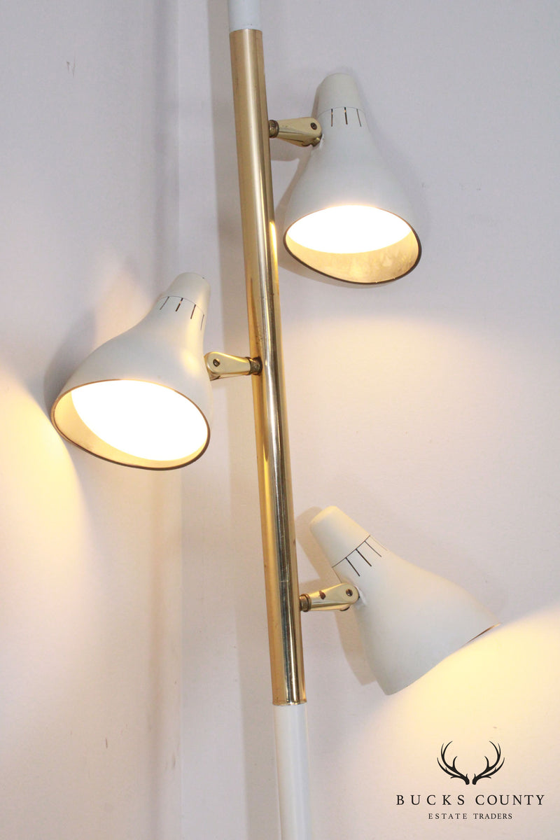 Mid Century Modern 3 Light Pole Lamp (C)