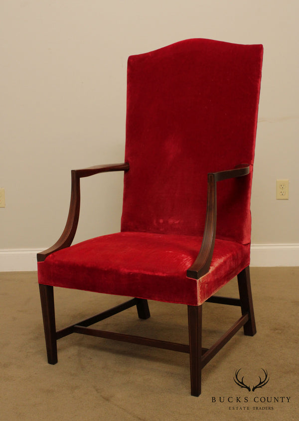 Kittinger Colonial Williamsburg Hepplewhite Style Mahogany Lolling Chair