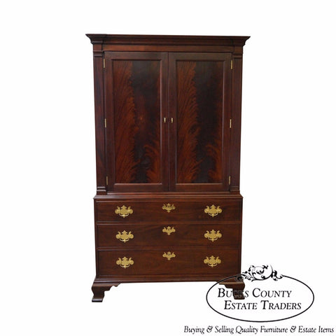 Stickley Colonial Williamsburg Collection Large Mahogany Chippendale TV Armoire