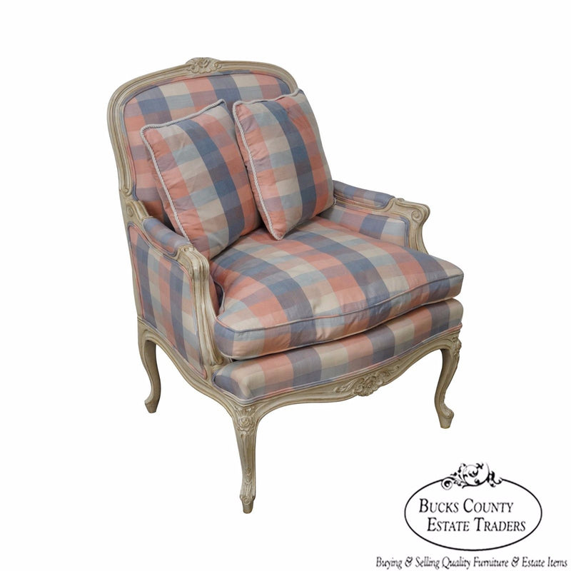 High Quality Paint Frame French Louis XV Style Bergere Chair