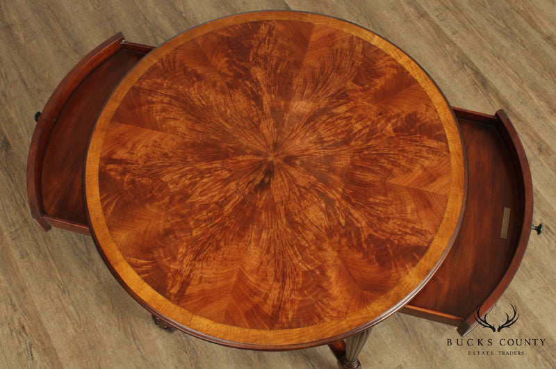 Theodore Alexander Regency Style Flame Mahogany Round Center Table