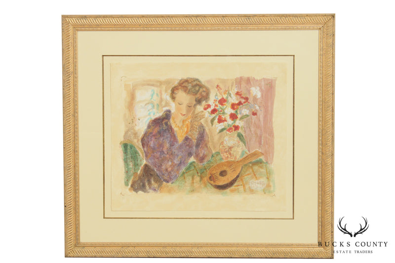 Fairchild Woodard Pencil Signed Lithograph 'Gift From Far Away'