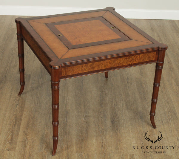 Ethan Allen Chessboard, Backgammon Newport Game Table