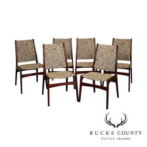 Danish Modern Rosewood Set 6 Dining Chairs