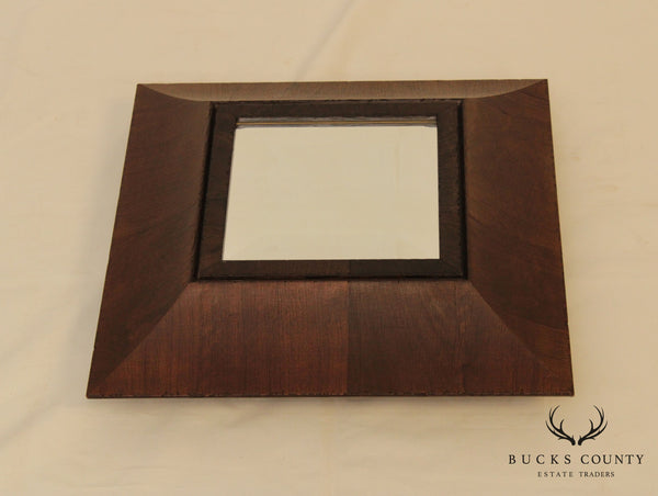 Palladio Square Wood Frame Beveled Mirror Tray