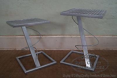 Contemporary Set of 2 Modern Design Expanded Metal Side Tables