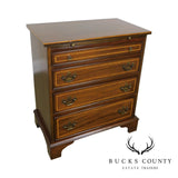George III Style Custom Quality Banded Mahogany bachelors chest