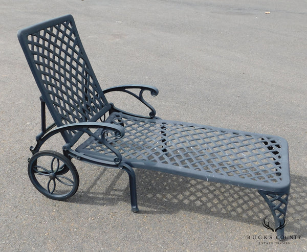 Quality Cast Aluminum Patio Chaise Lounge