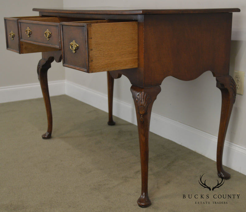 Queen Anne Style Custom Quality Vintage Burlwood Server