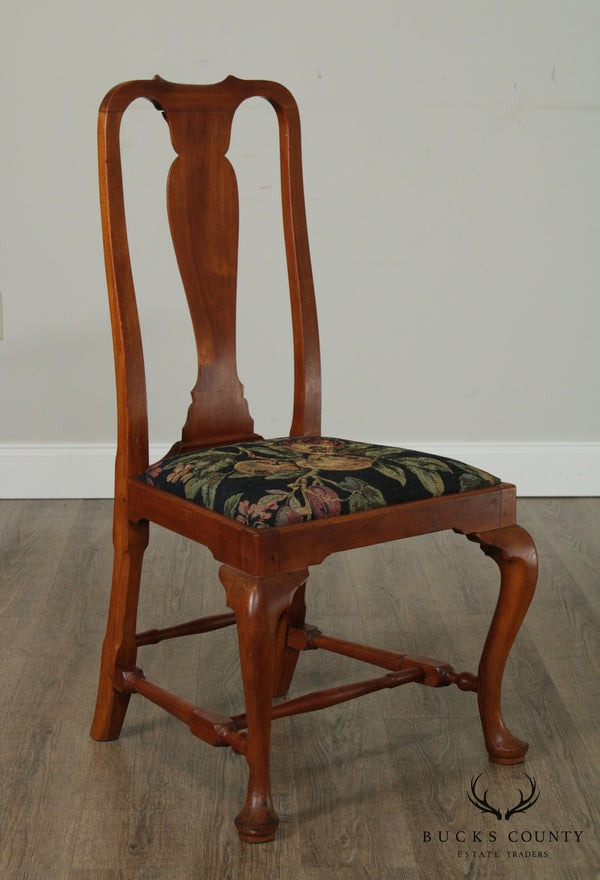 Antique Early 19th Century New England Maple Queen Anne Side Chair