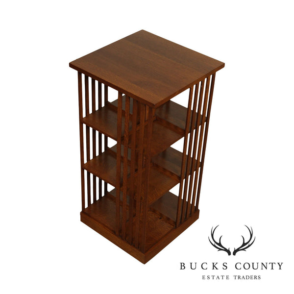 Stickley Mission Collection Oak Revolving Bookcase